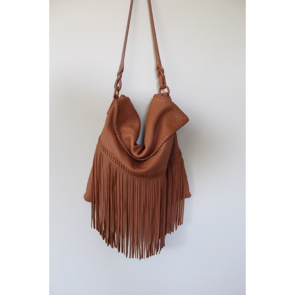 Bags   Buttery Soft Boho Cognac Fringe Shoulder Bag   Poshmark 016523d935